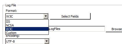 Image listing log file format options