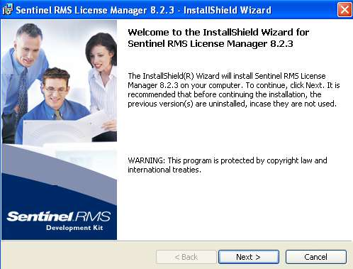 Sentinel RMS License Manager